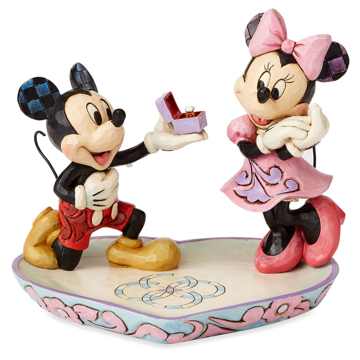 Mickey And Minnie Mouse Figure With Tray By Jim Shore Shopdisney