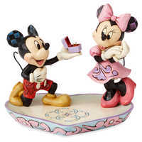 Image of Mickey and Minnie Mouse Figure with Tray by Jim Shore # 1
