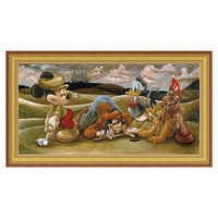 Image of Mickey Mouse and Friends ''On the 18th Green'' Giclée by Darren Wilson # 8