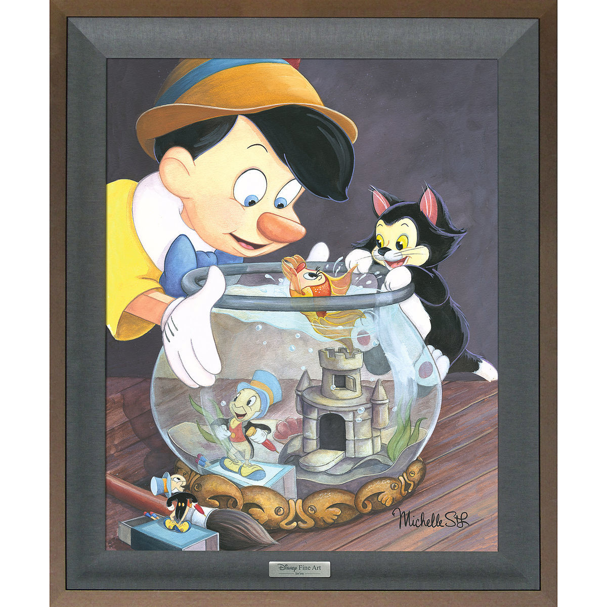 product image of pinocchio a kiss from cleo gicle on canvas by