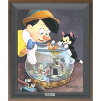 Pinocchio ''A Kiss From Cleo'' Giclée on Canvas by Michelle St.Laurent - Limited Edition