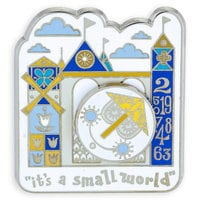 ''it's a small world'' Clock Pin