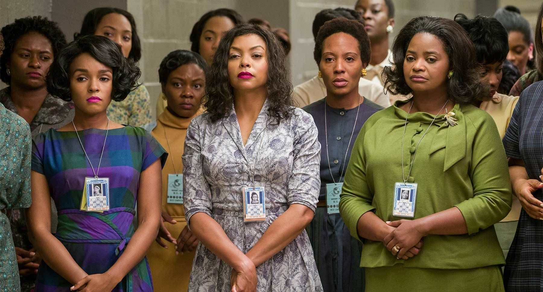 "Actors Janelle Monáe, Taraji P. Henson and Octavia Spencer in the movie ""Hidden Figures"""