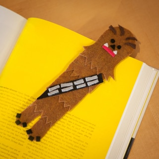 Star Wars Day Crafts: Felt Chewbacca Bookmark