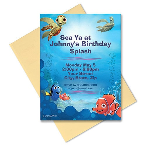 Finding Nemo Invitation - Customizable