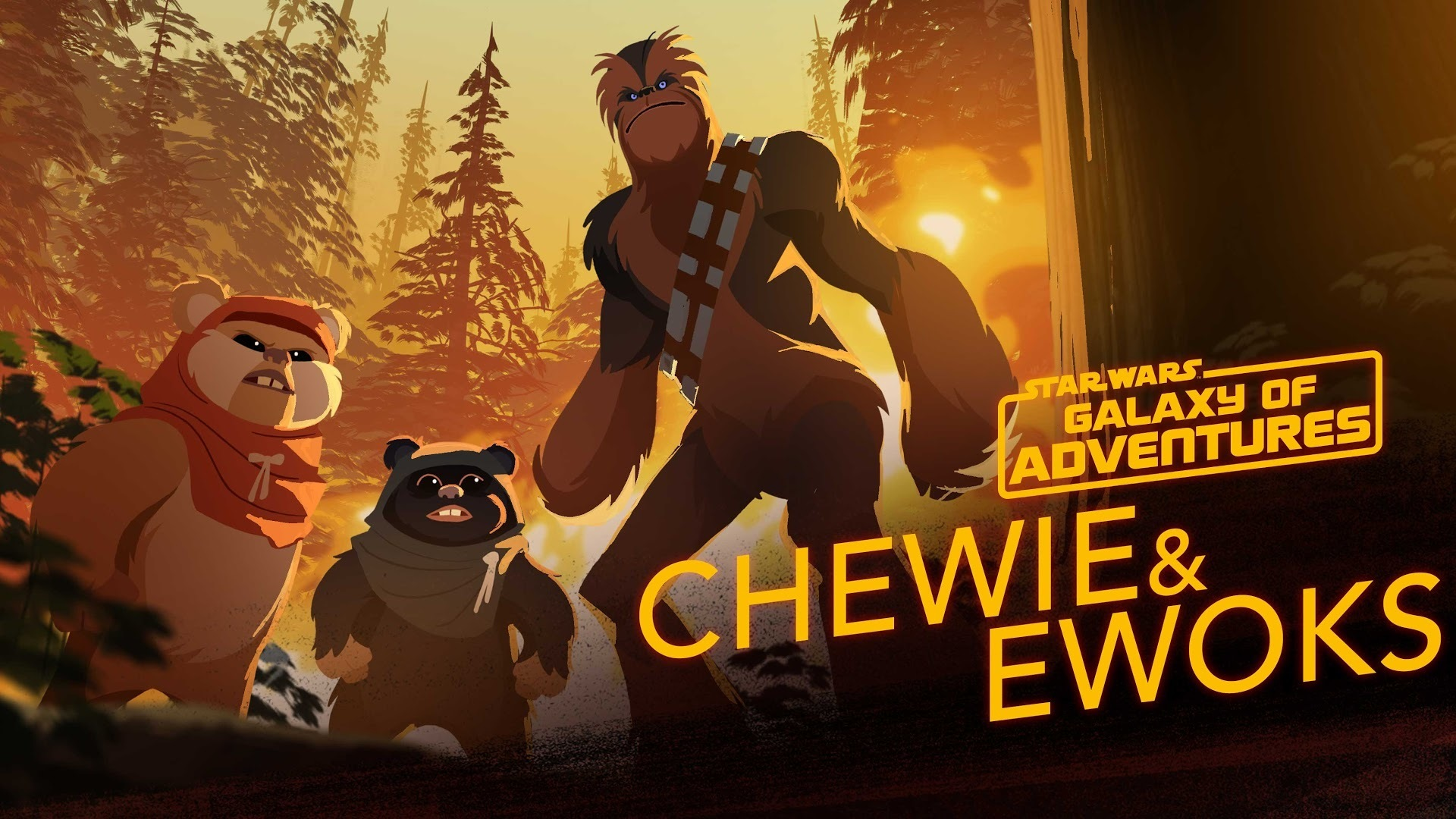 Chewie and Ewoks - Hijacking a Walker | Star Wars Galaxy of Adventures