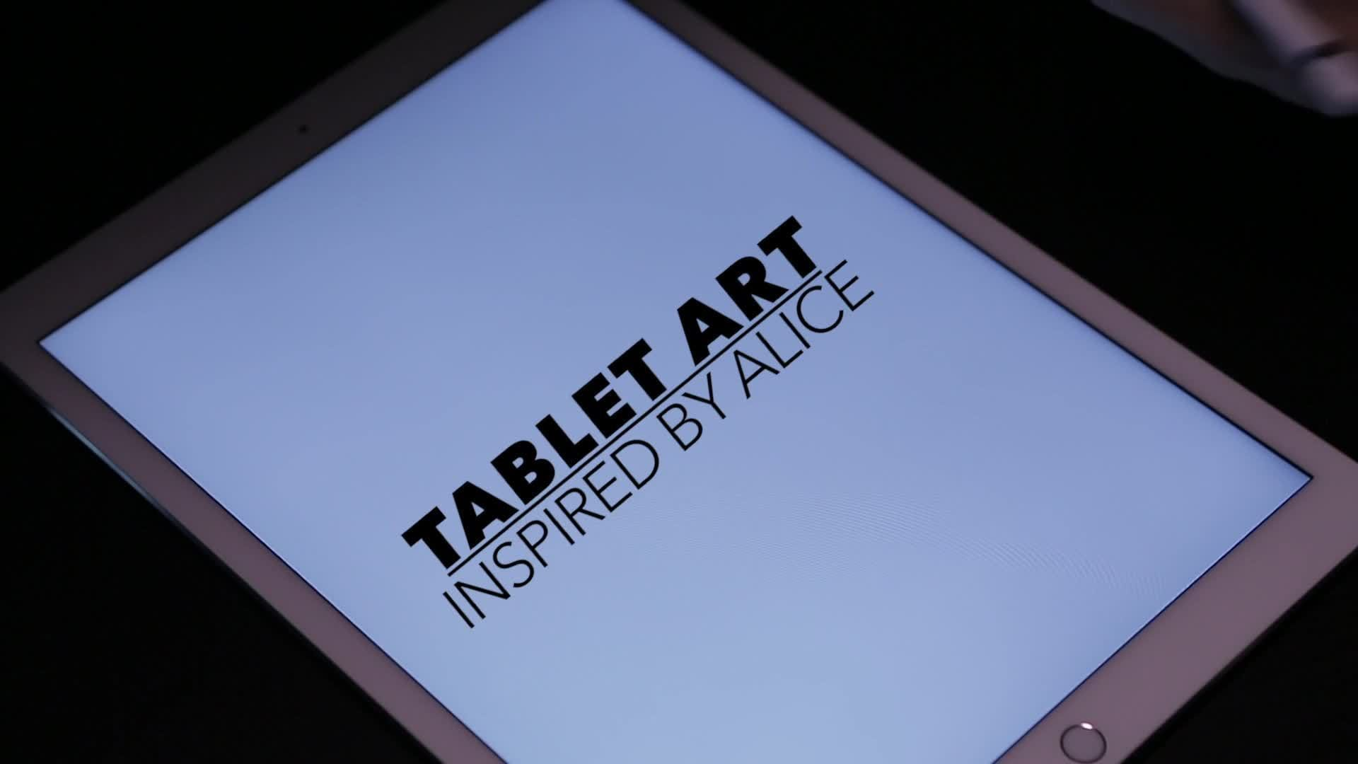 Tablet Art | Watch This Artist Create an Amazing Drawing Inspired by Alice