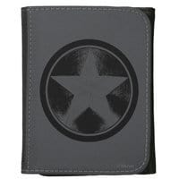 Image of Captain America Leather Wallet for Adults - Customizable # 1