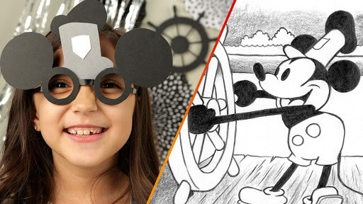 Steamboat Willie Party Glasses | Disney Family