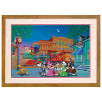 Image of Mickey Mouse ''Arriving in Style'' Lithograph by Manuel Hernandez # 1