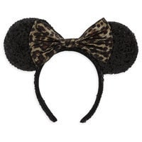 Image of Minnie Mouse Ear Headband - Leopard # 1