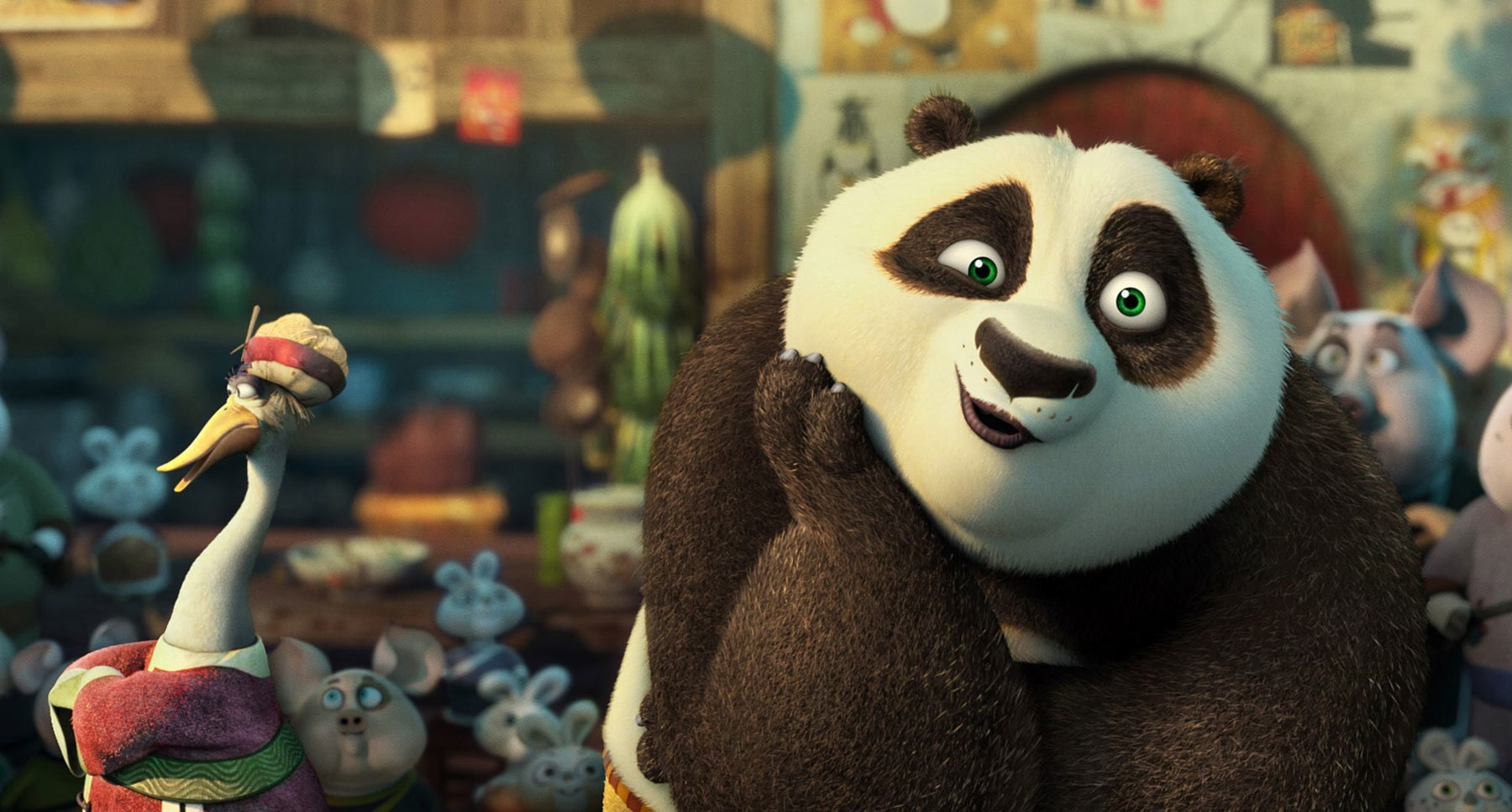 "Po (Jack Black) in the movie ""Kung Fu Panda 3"""