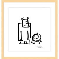 Image of ''Sullivan and Mike'' Framed Giclée on Paper by Pete Docter - Limited Edition # 1