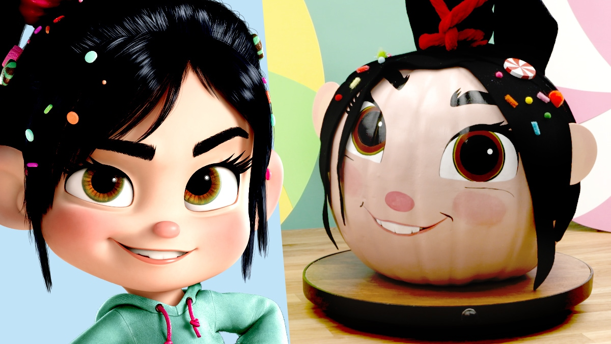 Halloween Pumpkin Painting: Vanellope from Wreck-It Ralph | Disney DIY by Disney Family