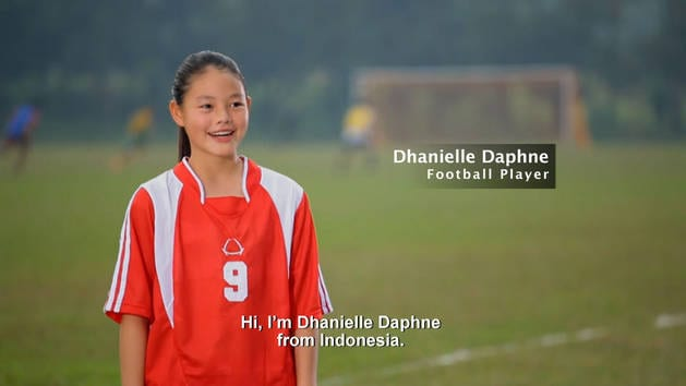 Backyard Heroes with Phineas and Ferbs - Dhanielle Daphne a football player from Indonesia