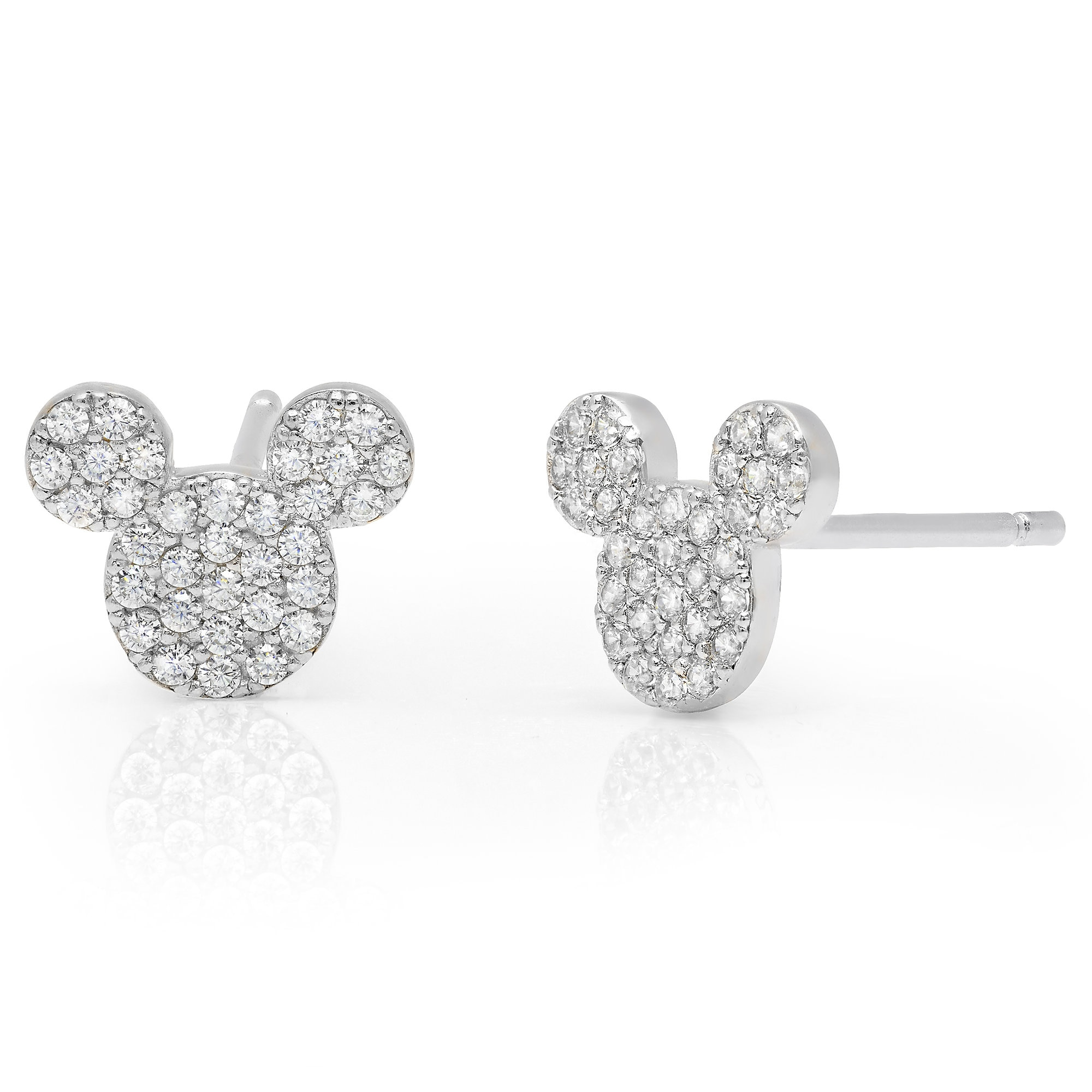 8950be132 Mickey Mouse Icon Stud Earrings by CRISLU - Platinum | shopDisney