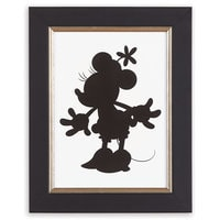 Minnie Mouse Silhouette I Framed Giclée on Archival Paper by Ethan Allen