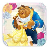 Image of Beauty and the Beast Dessert Plates # 1