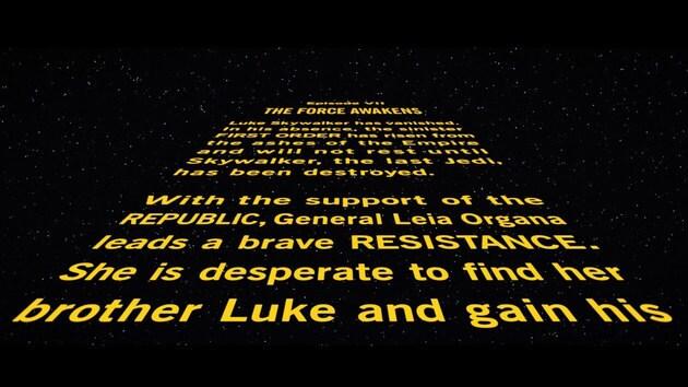 Star Wars Episode Vii The Force Awakens Opening Crawl Starwars Com