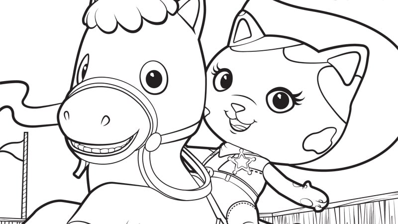 sheriff callie and sparky | disney junior - Disney Jr Coloring Pages Print
