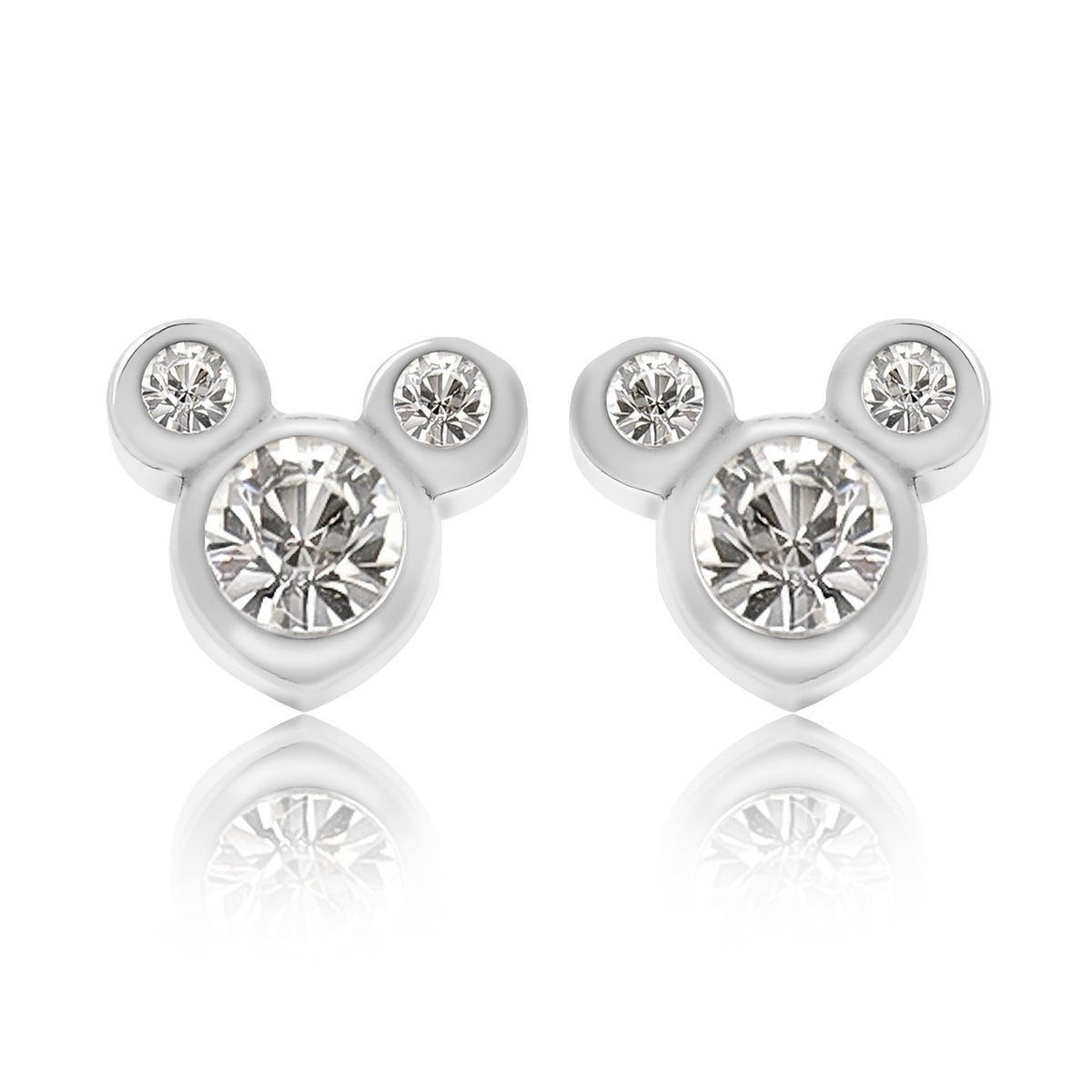 Product Image Of Mickey Mouse Crystal Icon Earrings Small 1