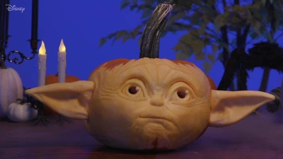 Grogu Pumpkin Carving | Disney