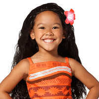 Image of Moana Costume Wig for Kids # 1