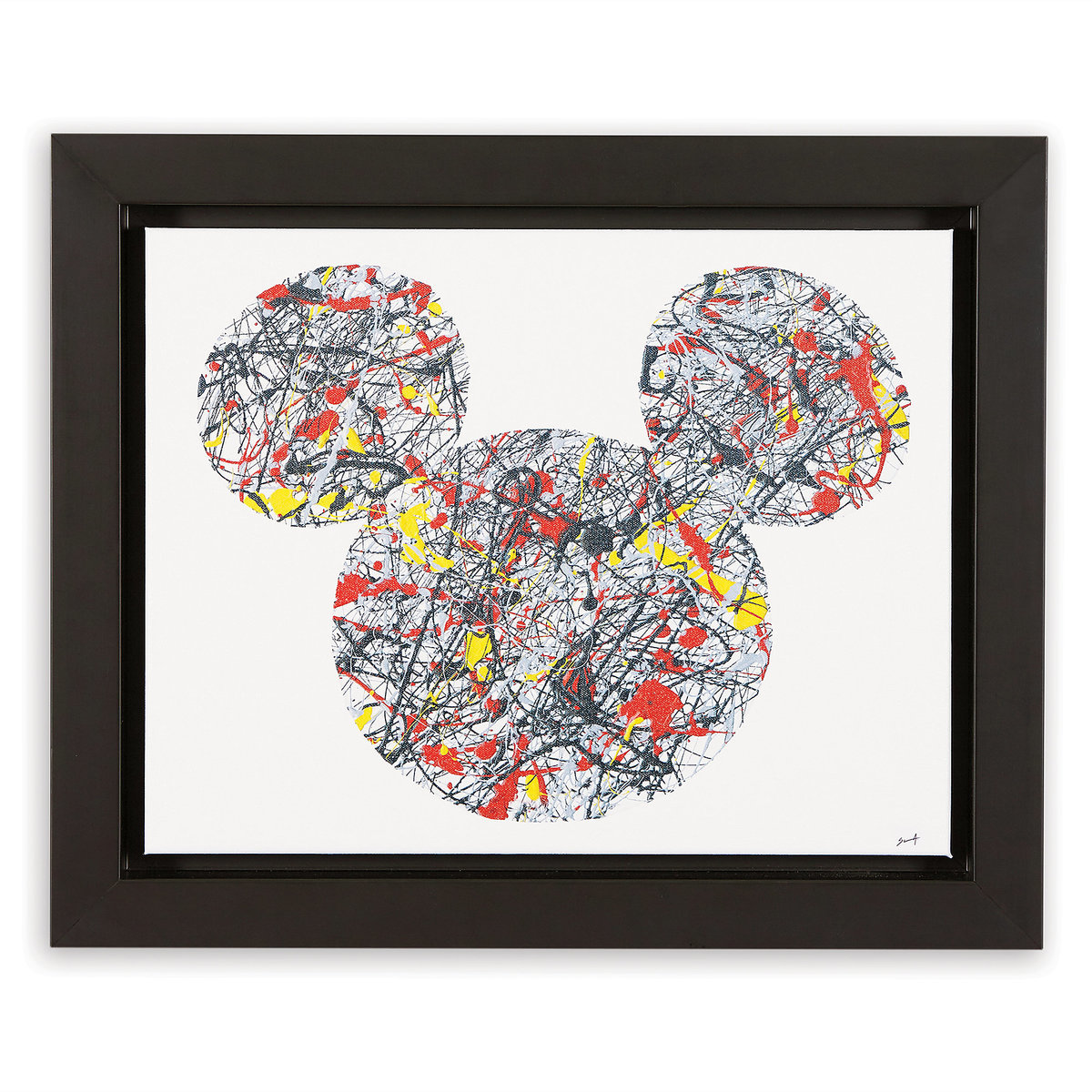 883b0850528f1 Product Image of Mickey Mouse ''Drip Paint Mickey'' Framed Giclée on Canvas