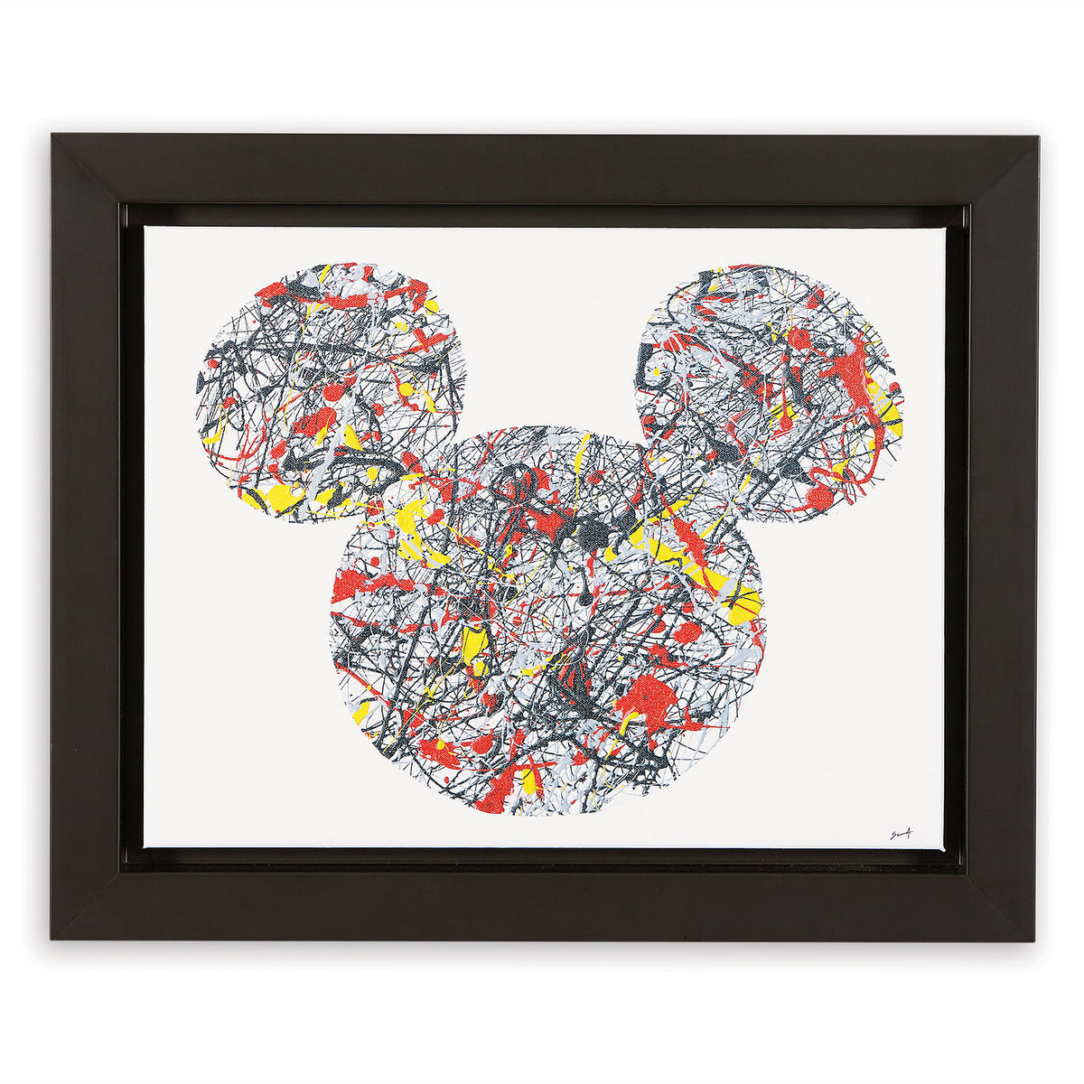 Mickey Mouse \'\'Drip Paint Mickey\'\' Framed Giclée on Canvas by Ethan ...