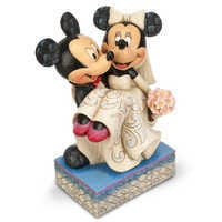 Image of Mickey and Minnie Mouse ''Congratulations!'' Figure by Jim Shore # 2