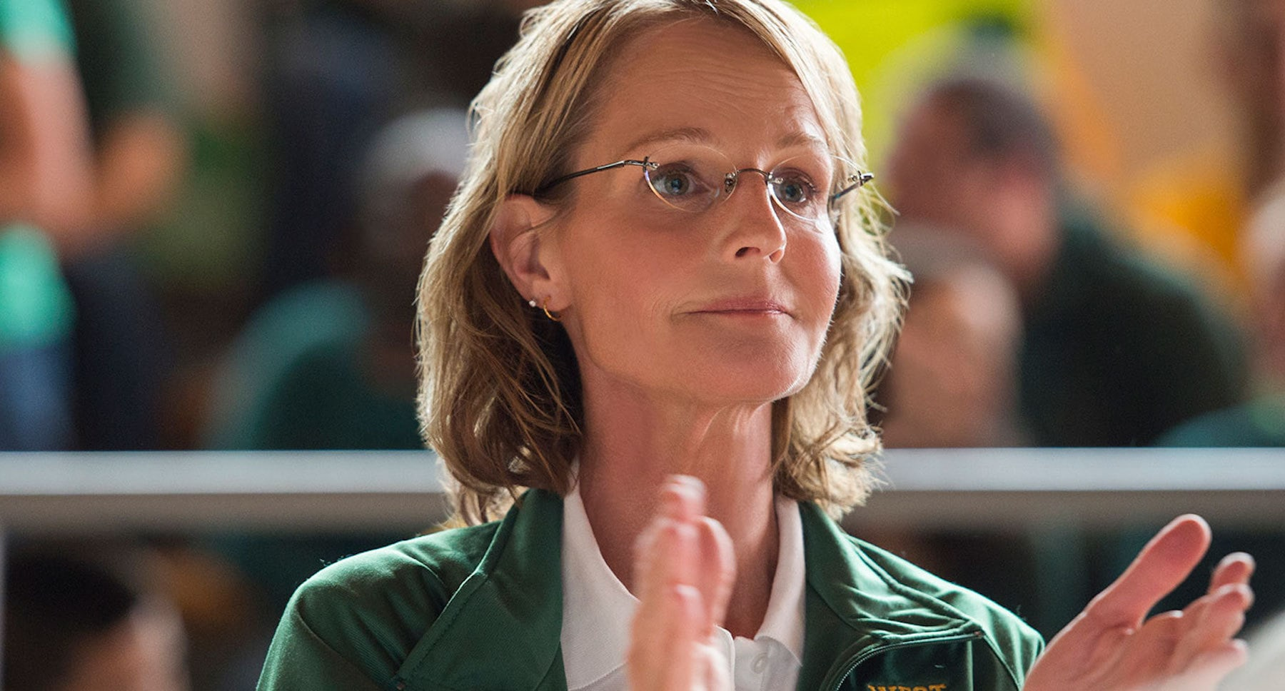 "Actor Helen Hunt (as Kathy Bresnahan) in the movie ""The Miracle Season"""