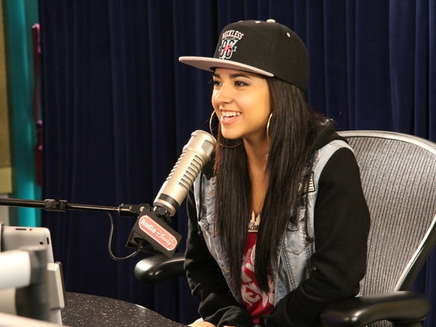 Becky G chats in the Radio Disney studio