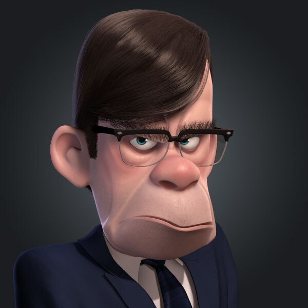 Gilbert Huph, voiced by Wallace Shawn, in The Incredibles