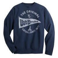 Image of Walt Disney World Pennant Sweatshirt for Adults - Navy # 1
