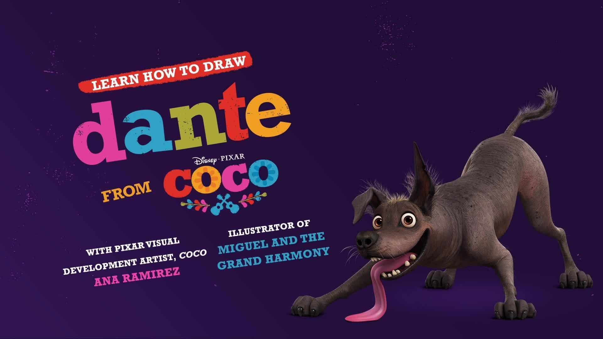 How To Draw Dante from Coco | Disney