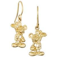 Mickey Mouse Earrings - 18K -  Diamond