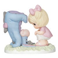 Image of Eeyore with Girl Figure by Precious Moments # 1