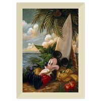 Image of Mickey Mouse and Pluto ''Sundown Surfer Mickey Mouse'' Giclée by Darren Wilson # 9