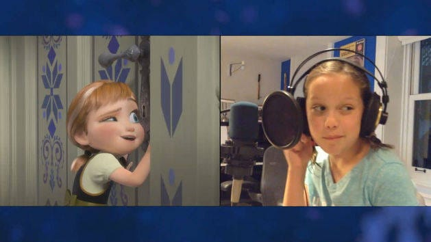 quotvoices of young elsa amp annaquot clip the story of frozen