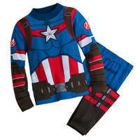 Image of Captain America Costume PJ PALS for Boys # 1