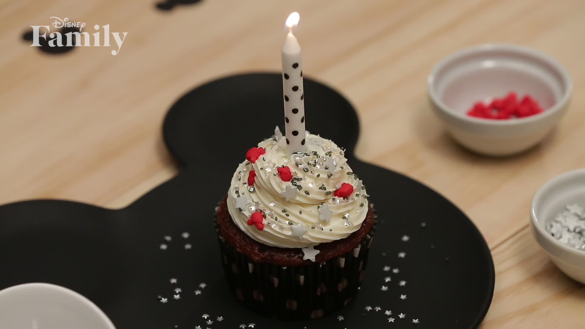 Mickey Birthday Cupcake | Dishes by Disney