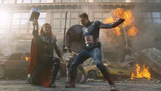Os Vingadores: The Avengers - Cena de batalha