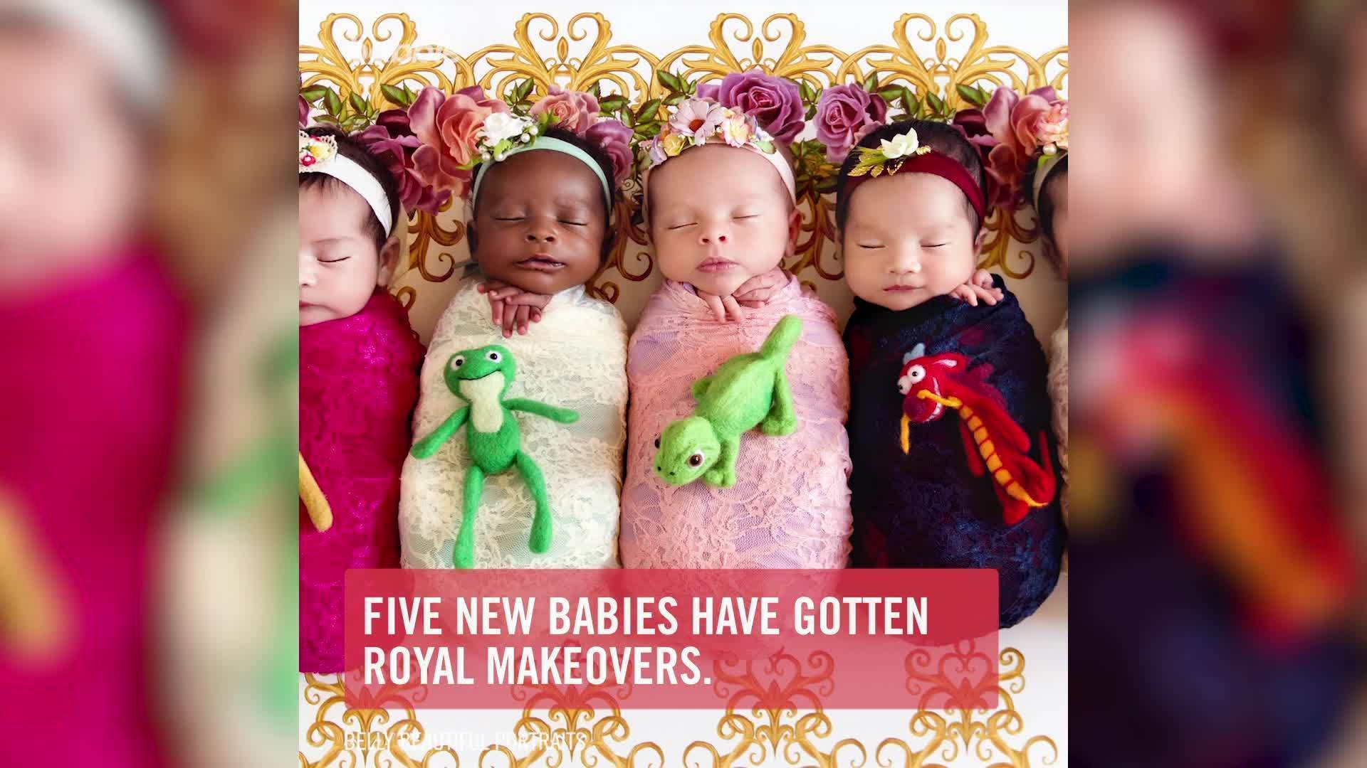 Six New Babies Are Transformed Into Disney Princesses