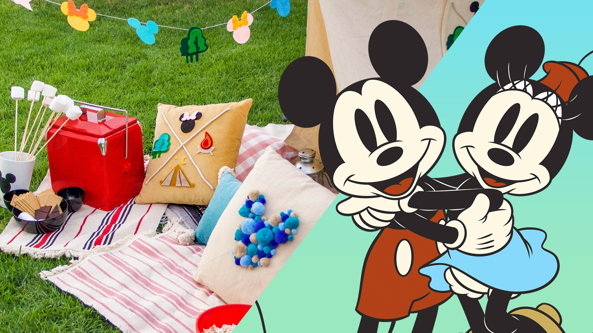 Mickey and Minnie Backyard Camping | #DisneyWeekend | Disney Family
