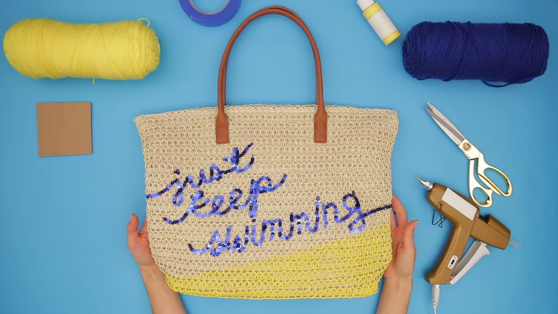 Finding Dory Beach Bag DIY