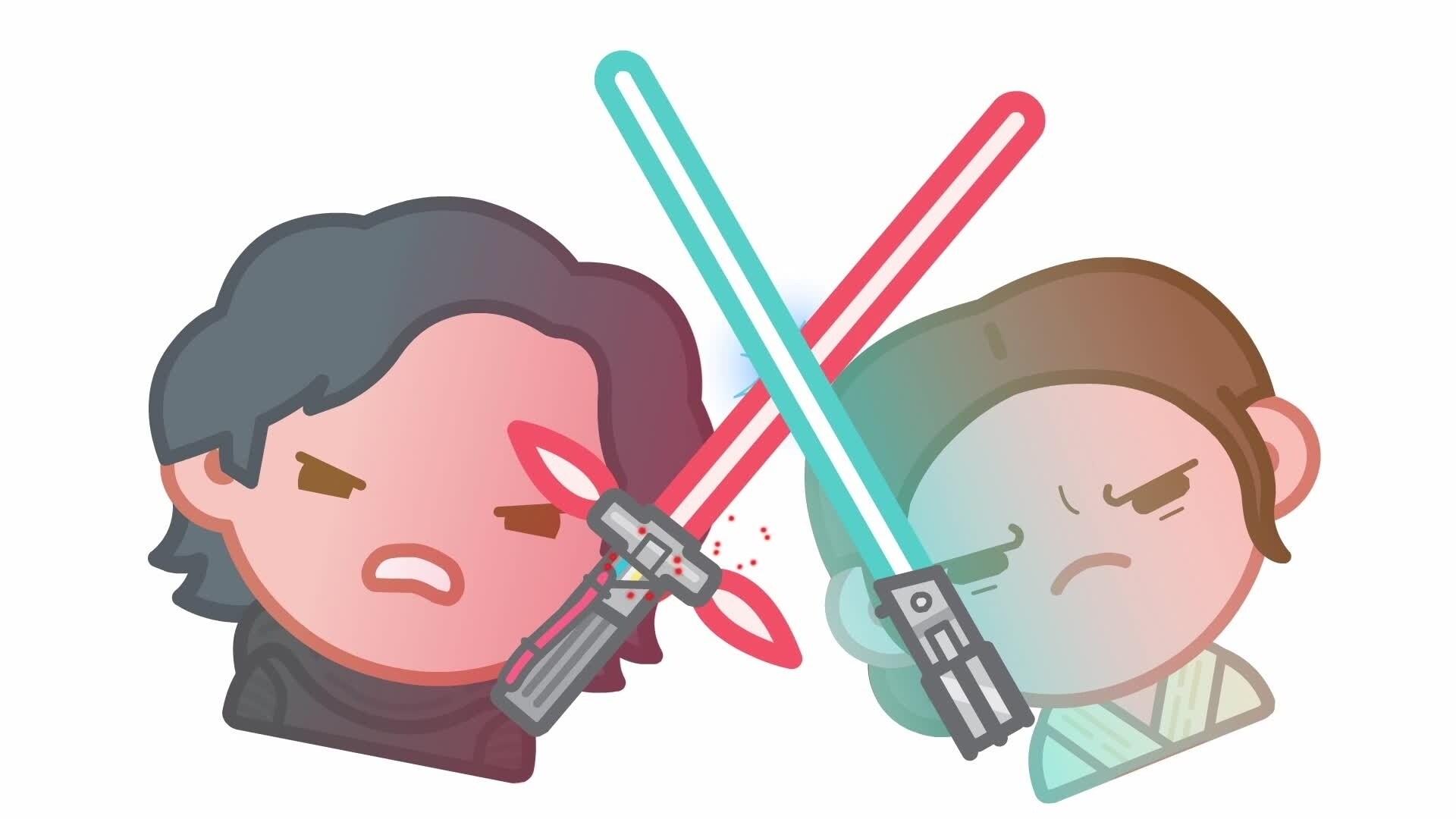 Gwiezdne wojny: Przebudzenie Mocy w wersji emoji