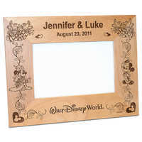 Image of Walt Disney World Minnie and Mickey Mouse Wedding Photo Frame by Arribas - Personalizable # 2