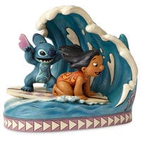 Image of Lilo & Stitch ''Catch the Wave'' Figure by Jim Shore # 3