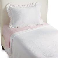 Minnie Mouse Scroll Matelassé Twin Coverlet by Ethan Allen