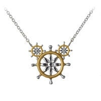 Mickey Mouse Ship's Wheel Necklace by Rebecca Hook